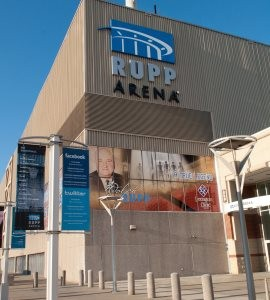 Outside view of Rupp Arena, located in Lexington, Kentucky.